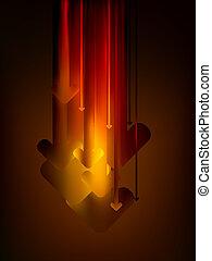 バックグラウンド。, 抽象的, 矢, eps, 8