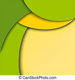 バックグラウンド。, 抽象的, 緑, 黄色