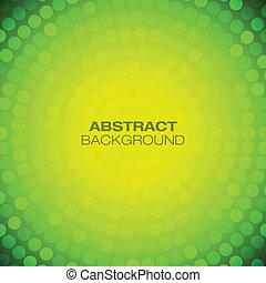 バックグラウンド。, 抽象的, 黄色, 円