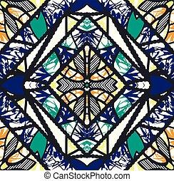 バックグラウンド。, 抽象的, pattern., seamless, 万華鏡