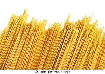バックグラウンド。, 料理していない, スパゲッティ, 白, イタリア語