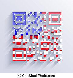 バックグラウンド。, 旗, ベクトル, eps10, アメリカ