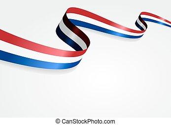 バックグラウンド。, 旗, ベクトル, illustration., オランダ語