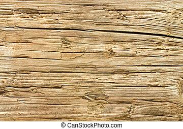 バックグラウンド。, 木, 古い, 外気に当って変化した, 手ざわり