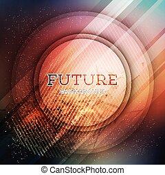 バックグラウンド。, 未来派, 円