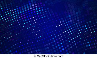 バックグラウンド。, 未来派, 動的, visualization., 大きい, rendering., データ, 青, デジタル, 3d, 抽象的, wave.