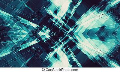 バックグラウンド。, 未来, technology., 概念, 抽象的, スペース, 未来派