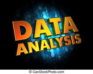 バックグラウンド。, 概念, データ, 分析, デジタル