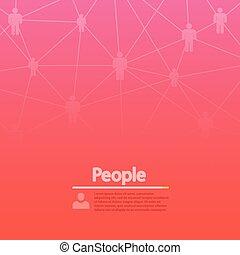 バックグラウンド。, 概念, 現代, ネットワーク, 社会