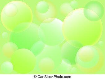 バックグラウンド。, 泡, 緑, desing