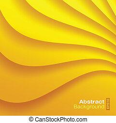 バックグラウンド。, 波状, 黄色