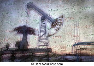 バックグラウンド。, 産業, オイル, ガス
