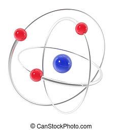 バックグラウンド。, 白, アイコン, 隔離された, 原子