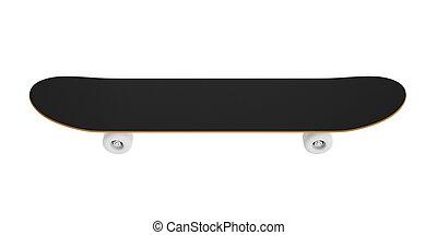 バックグラウンド。, 白, スケートボード, 隔離された