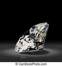 バックグラウンド。, 白, ダイヤモンド, 黒, 光沢がある