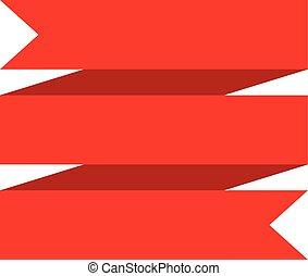 バックグラウンド。, 白, 旗, リボン, 赤