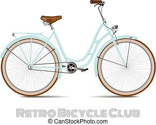 バックグラウンド。, 白, 自転車, レトロ