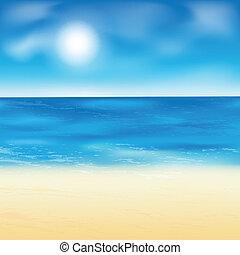 バックグラウンド。, 砂ビーチ