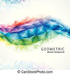 バックグラウンド。, 色, 虹, 抽象的, 幾何学的