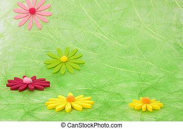 バックグラウンド。, 花, 緑, サイザル麻, 春