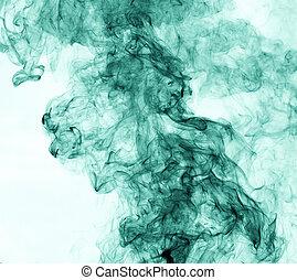 バックグラウンド。, 逆転, 緑の白, 煙
