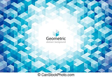 バックグラウンド。, 青, パターン, 抽象的, 幾何学的, 都市