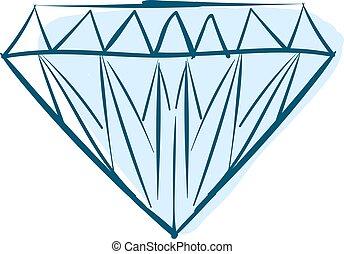 バックグラウンド。, 青, 白, ダイヤモンド, ベクトル, イラスト