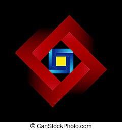 バックグラウンド。, 黒, undecidable, 広場, figure., penrose, 数字, ∥あるいは∥, オブジェクト, 不可能