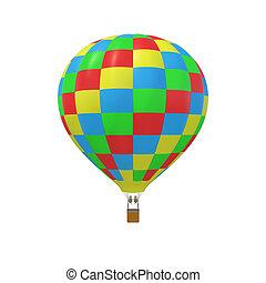 バックグラウンド。, balloon, 白, 隔離された, カラフルである