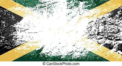バックグラウンド。, jamaican, グランジ, 旗
