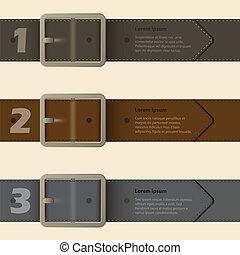 バックル, infographic, デザイン, ベルト