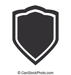 バッジ, セキュリティー, 保護, 保護, プライバシー