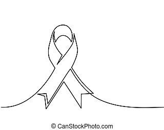 バッジ, ロゴ, デザイン, リボン, 慈善, がん