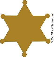 バッジ, 星, 保安官