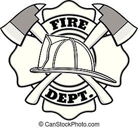 バッジ, 消防士, イラスト