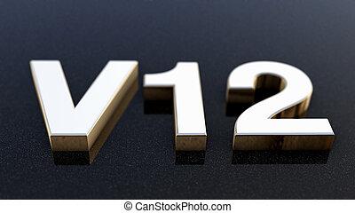 バッジ, 紋章, d, v12, 印, ラベル, ∥あるいは∥