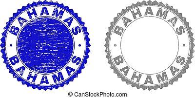 バハマ, 切手, textured, グランジ, シール