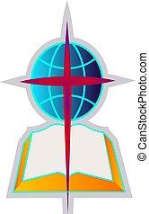 バプテスト, シンボル, イラスト, ベクトル, 背景, 教会, 白