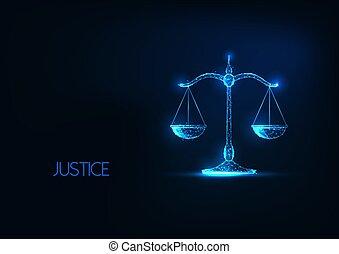 バランス, 未来派, 白熱, スケール。, 法律, polygonal, 正義, 低い, 判断, 概念