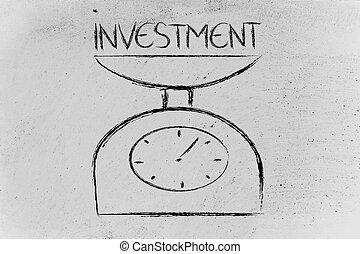 バランス, 測定, あなたの, ファインド, 投資
