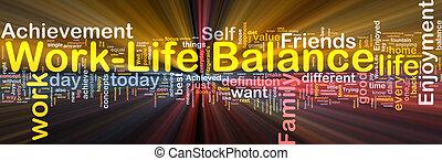 バランス, 白熱, 概念, work?life, 背景