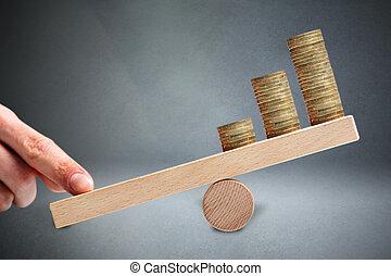 バランス, 財政, 富, leverage.