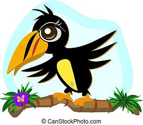 バランス, toucan, 鳥