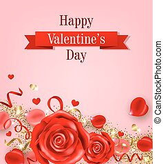 バラ, カード, バレンタイン