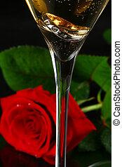 バラ, シャンペン, 2, ガラス