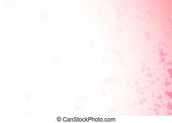 バラ, バレンタイン, 花弁, 背景, 落ちる, 赤