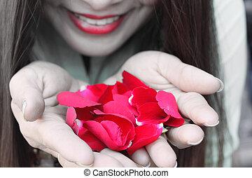 バラ, 女, 花弁
