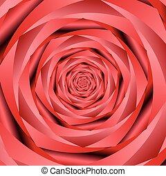 バラ, 抽象的, 花, 背景