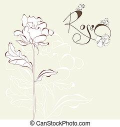 バラ, 花