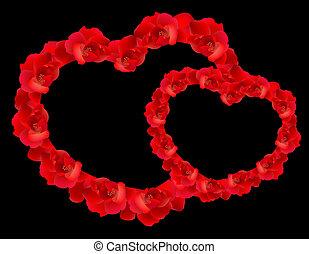 バラ, 赤い心臓